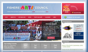 Fishers Arts Council Screenshot